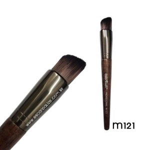 Pincel Kabuki Chanfrado Linha Madeira Macrilan Profissional M121