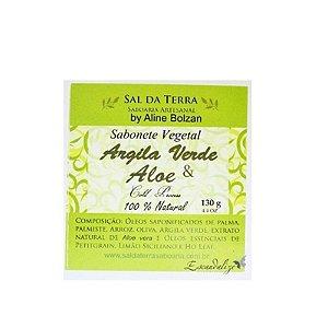 Sal da Terra Sabonete Vegetal Argila Verde e Aloe 130g