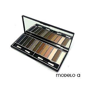 Paleta de Sombras Opacas 12 cores Modelo A Jasmyne V758
