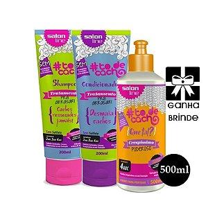 Kit Crespissimo Shampoo e Condicionador Low Poo To de Cacho 500ml