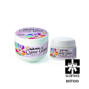 Kit Leave-in Creme Glace 300g e Jelly Glace 100g Kah Noa