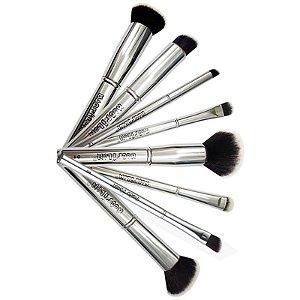 Pincéis de Maquiagem Macrilan Linha Silver Prata