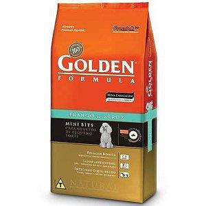 Golden Formula Cães Adultos Frango e Arroz Mini Bits 15 kg