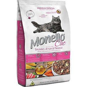 Ração Monello Cat Salmão, Atum e Frango 15 kg