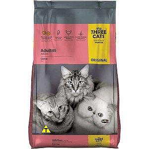 Ração Three Cats Adultos Sabor Carne 10.1 Kg