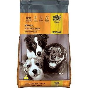 Ração Three Dog Original Cães Filhotes de Médio e Grande Porte 15 kg