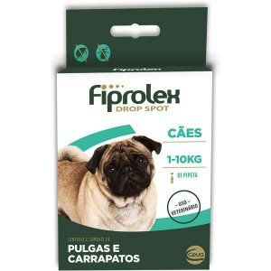 Anti Pulgas e Carrapatos Fiprolex Cães até 10 kg