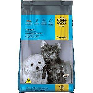 Ração Three Dog Original Cães Filhotes de Mini e Pequeno Porte 15 kg