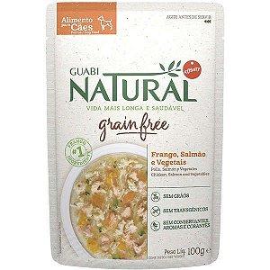 Ração Úmida Guabi Natural Frango Salmão e Vegetais Grain Free100 gr