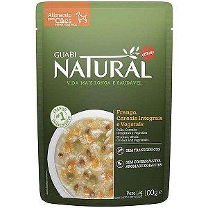 Ração Úmida Guabi Natural Frango Cereais Integrais e Vegetais 100 gr