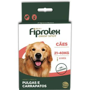 Anti Pulgas e Carrapatos Fiprolex Cães até 21 a 40 kg