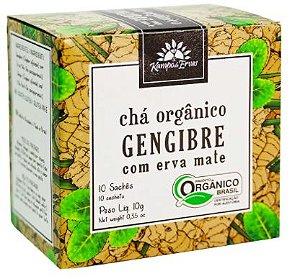 Chá Gengibre com Erva Mate Orgânico (10  Saches) - Kampo de Ervas