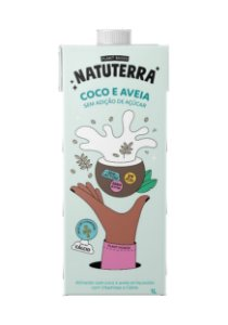 Leite de Coco e Aveia Natuterra   -  1L