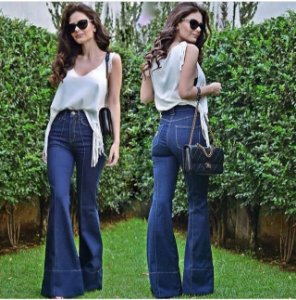 Calça Flare Feminina Jeans