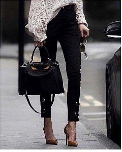 Calça Jeans Skinny Preta