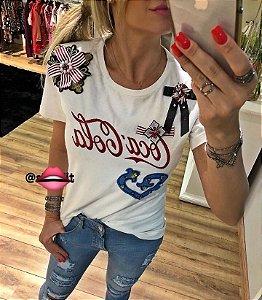 Camisetas Feminina Branca