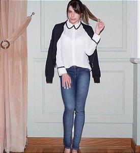 Calça jeans Skinny Cintura Media
