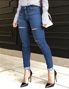 Calça Skinny Jeans Cintura Alta