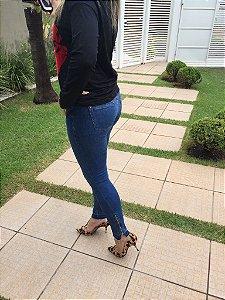 Skinny Jeans Feminina Cintura Media