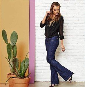 Flare Jeans Feminina Cintura Alta