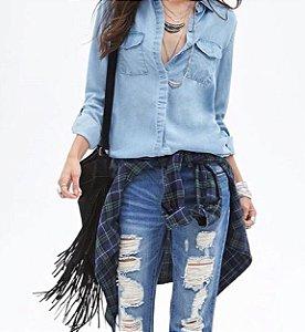Flare Jeans Cintura Media