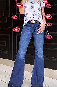 Calça Jeans Flare Cintura Baixa