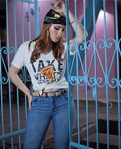 T-shirt Feminina Bordada