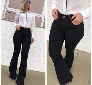 Calça Jeans Flare Black Cintura Alta