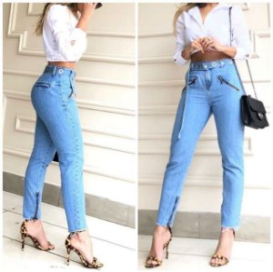 Calça Skinny Jeans Ziper