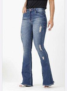 Calça Jeans Flare Feminina Blu