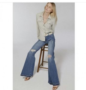 Calça Flare jeans Grazi