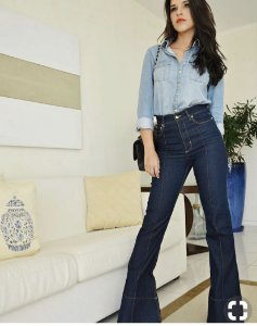 Calça Jeans Flare Cos alto