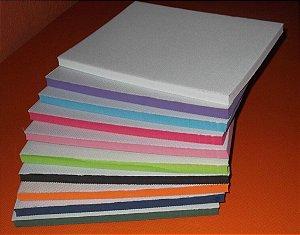 Placa com tecido - medida de 85x105 cm e 1,4 cm altura