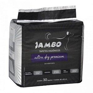 Tapete higiênico para cachorro com 30 pcs - Jambo pet ultra dry premium