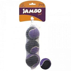 Bolinhas de tênis para cachorros - 3 unidades - Jambo Pet