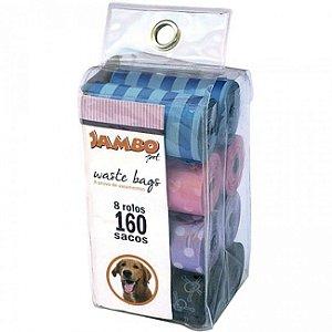 saquinhos para recolher fezes de cachorro - Cata caca com 160 saquinhos - Jambo Pet