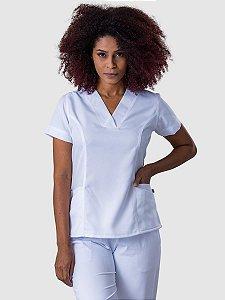 Conjunto Scrub Blusa e Calça Ox Feminino Branco