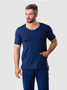 Conjunto Scrub Blusa e Calça Confort Dry Fit Masculino Azul