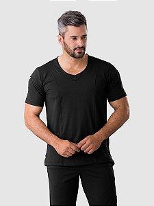 Conjunto Scrub Blusa e Calça Confort Dry Fit Masculino Preto