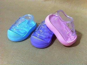 Box baby tênis/3 unidades/lilás/azul/rosa