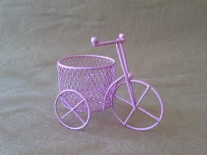 Mini bicicleta metal rosa/5 unidades