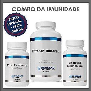Combo da Imunidade - Vitamina C (Effer C - Buffered) + Zinco (Picolinato) + Magnésio (Quelado)