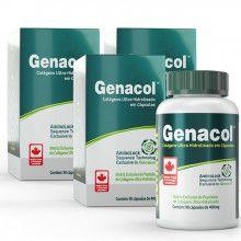 04. Combo Promocional - 3 frascos Genacol Colágeno Ultra Hidrolisado (90 cáps. x 3 frascos)