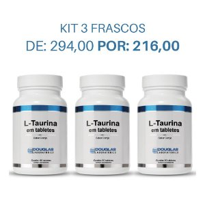KIT 3 L-Taurinas 75mg Douglas Labs - (270 comprimidos)