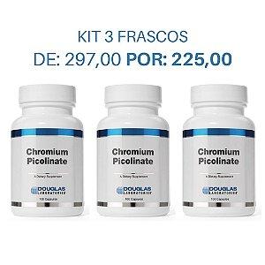 03. KIT 3 Picolinato de Cromo (3 frascos de 100 cápsulas cada)