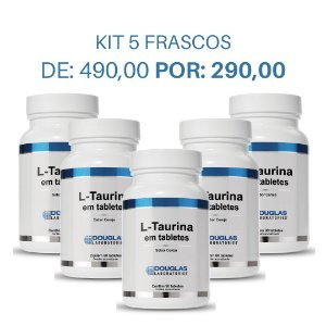 KIT 5 L Taurina 75mg sublingual - Douglas Labs (90 tabletes)
