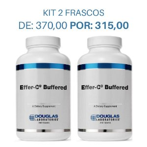KIT 2 Vitamina C com Minerais - Effer C Buffered Douglas Labs (240g cada)