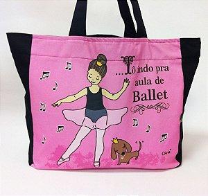Bolsa To indo pra aula Ballet com zíper