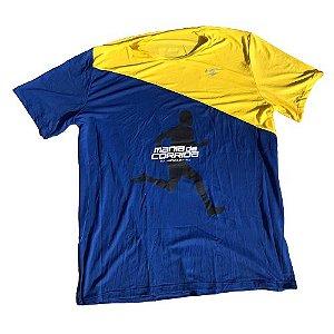 Camiseta Mania de Corrida Azul e Amarelo - Special Edition