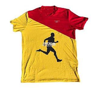 Camiseta Mania de Corrida Amarelo e Vermelho - Special Edition